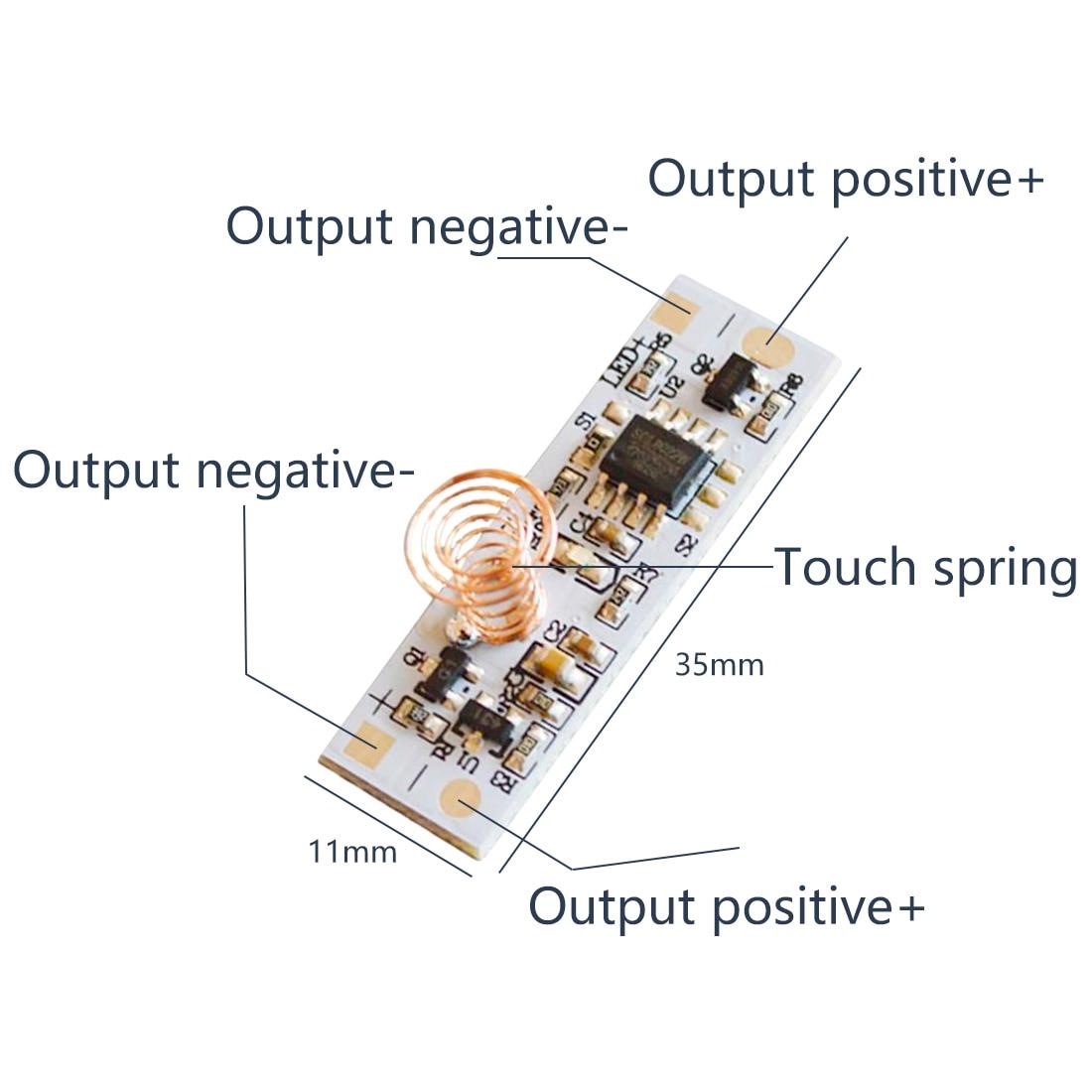 Interruptor capacitivo da mola da bobina do interruptor do sensor de toque da c.c. 3-24 v 36 w 3a para a tira clara conduzida da casa esperta