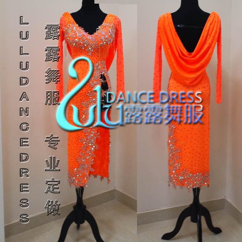 62e52fdaf3c ▽2016 NOUVEAU! robe de danse Latine