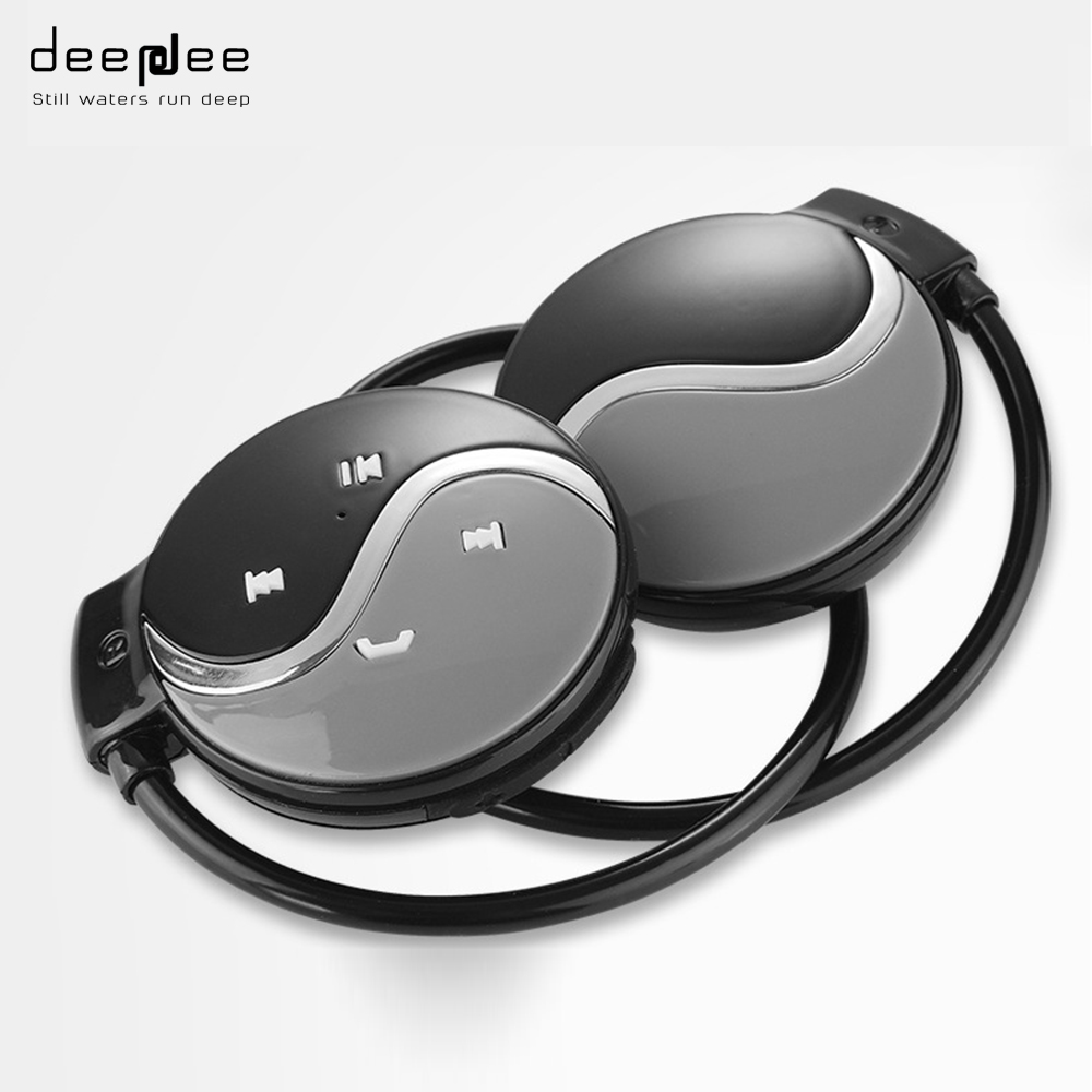 DEEPDEE Portable Wireless Bluetooth Headphone FM Radio Stereo Music Sport Headset with Microphone SD Card Slot for Mobilephone economic set original nia 8809s 8 gb micro sd card a set wireless headphone sport for tv with fm