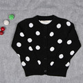 Autumn kids clothes new cardigan sweater boys girl knit baby girls cotton dot cardigan sweater baby boy clothes