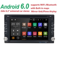 1G RAM Quad core 2 din android 6.0 2din New universal Car Radio Double Car DVD Player GPS Navigation In dash Car PC Stereo video