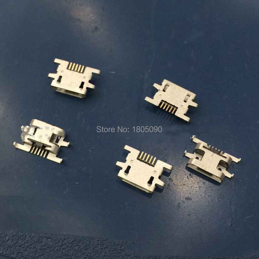 100pcs/lot Micro USB Jack Connector Heavy Plate Female 5pin Charging Socket For Sony Xperia M C1904 C1905 Y515 V880 C2004 C2005