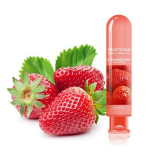 80ml Edible Fruit Flavor Lubricant Water Based Non Toxic Sexual Anal Oral Gel Sex Lube For Couple Adult Products