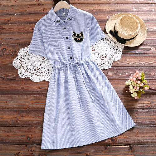 Womens Sweet Kawaii Shirt Dress Mori Girls Turn Down Collar Casual Lolita Dress Full Sleeve Vestidos Spring Autumn Vintage Tunic by Banulin