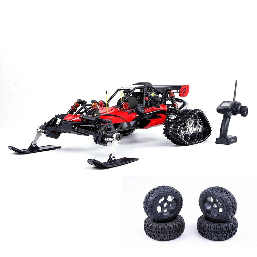 Rovan Baja305AS 1/5 2.4G RWD neige Buggy Rc voiture 30.5cc moteur avec chenilles + roues rondes RTR jouet