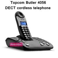 Topcom Butler 4056 DECT telefon bezprzewodowy z cyfrowym odpowiadając na maszyny i baza dialling Caller ID Czarny telefon typu Europa