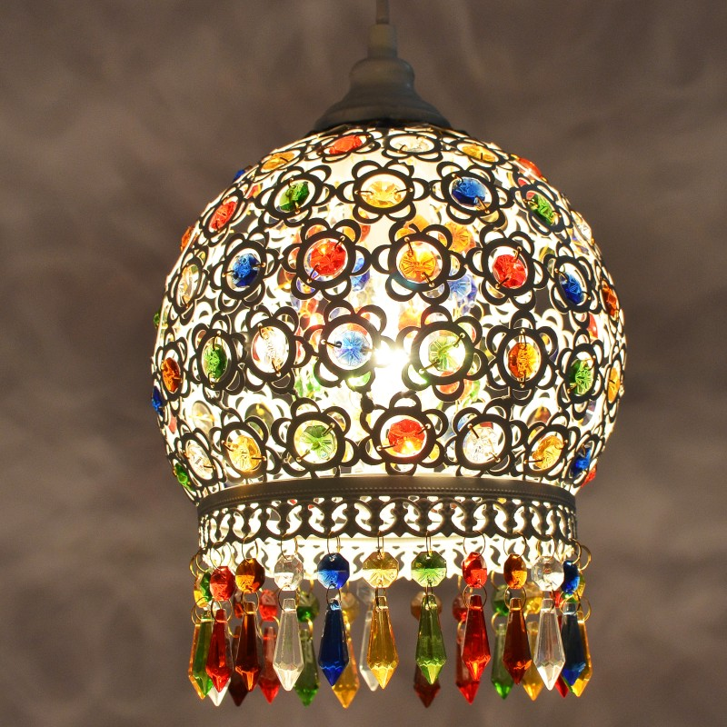 turkish Bohemia Mediterranean restaurant bedroom lamp retro multicolor bronze wrought iron pendant lamp D13turkish Bohemia Mediterranean restaurant bedroom lamp retro multicolor bronze wrought iron pendant lamp D13