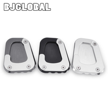 For BMW K1600GT K 1600 GTL/GT 2016-2019 Motorcycle Accessories CNC Kickstand Side Stand Plate Extension Enlarger Pad Kick Stand цена и фото