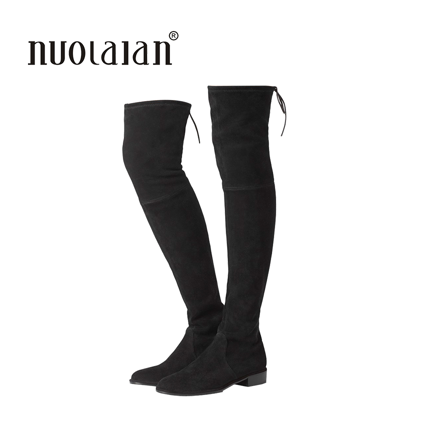 2018 women thigh high boots over the knee motorcycle boots winter and autumn woman shoes plus size 4-11 botas mujer femininas 2017 new winter arrival long boots for women over the knee thigh boots high heel flock shoes club boots botas mujer femininas