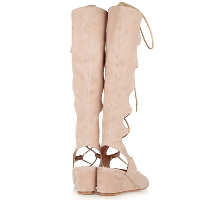 Fashion Summer Boots Wedges High Heels Ladies Sandals 1