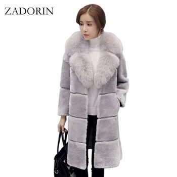 ea62167663c82 Product Offer. Задорина Высокое качество Элегантные Для женщин пальто из  искусственного меха ...