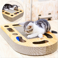Cat toy claws grab board wear resistant creative corrugated paper cat hole turntable ball funny cat toy pet supplies send catnip