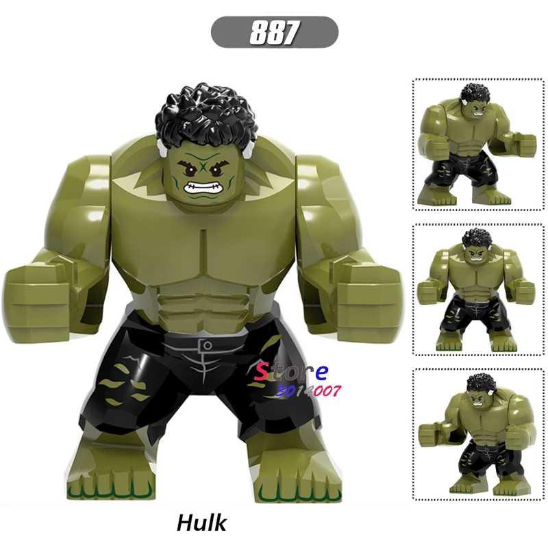 Único tamanho grande marvel avengers infinito guerra hulk bruce banner thanos homem de ferro spiderman blocos de construção brinquedos para crianças