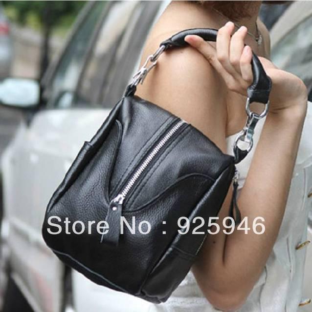 Free shipping 2013 genuine leather small handbag