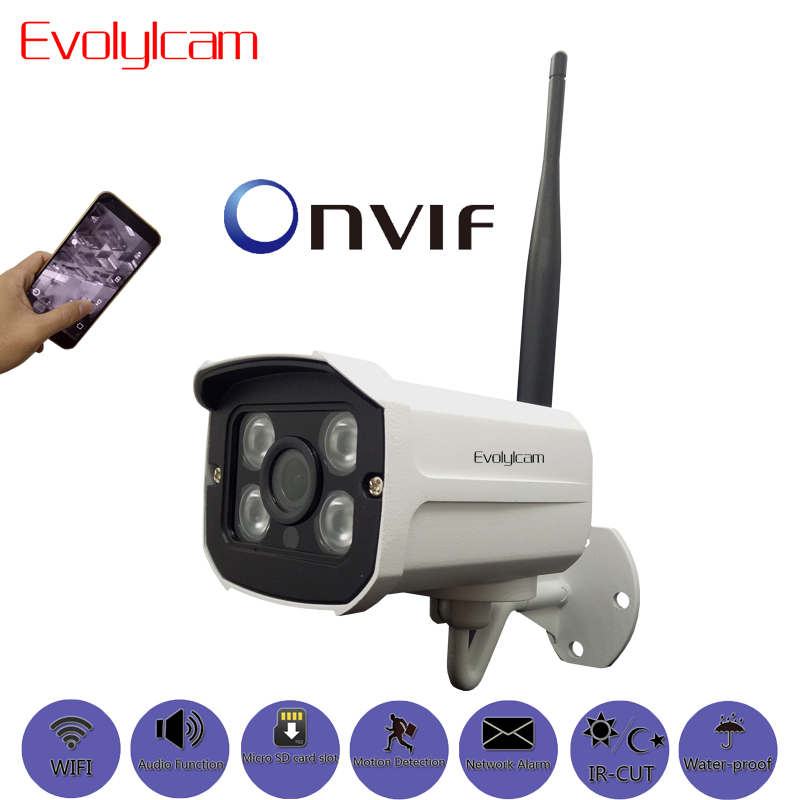 Evolylcam Wireless HD 720P 1MP/ 960P 1.3MP/ 1080P 2MP Micro SD/TF Card Slot Audio IP Camera Wifi P2P Onvif Security CCTV Camera hd 720p 1080p wifi ip camera 960p outdoor wireless onvif p2p cctv surveillance bullet security camera tf card slot app camhi