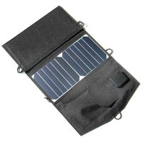 Wholesale 10PCS/Lot 21W 5V Portable Sunpower Solar Charger Foldable Solar Cell Charger Dual USB Output High Efficiency > 23%