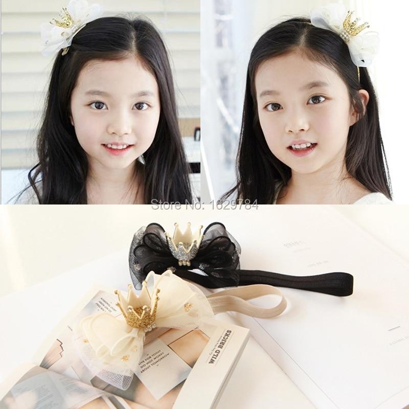 10 stuks mode glitter 3d edelsteen tiara's meisjes haarbanden solide - Kledingaccessoires