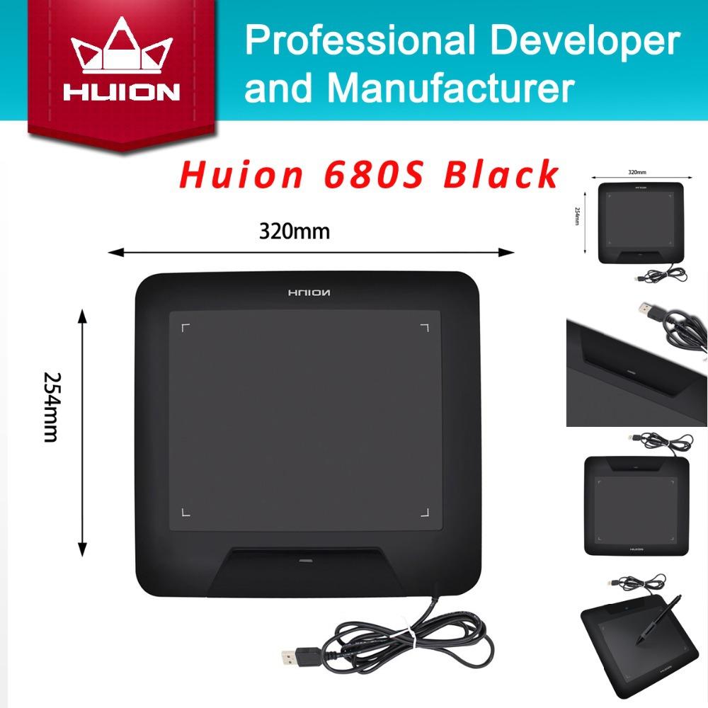 """Prix pour Nouveau huion 680 s 8 """"animation graphique comprimés signature stylo tablet conseils professionnel numérique stylo tablet pad noir livraison gratuite"""