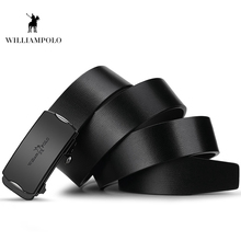 Williampolo 2019 Fashion Men Belt Waist Genuine Leather Luxury Automatic Buckle Male PL18316-17P