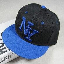 1 шт./лот,, корейский стиль, детская бейсбольная кепка с надписью NY для мальчиков и девочек, Регулируемая Повседневная Кепка в стиле хип-хоп