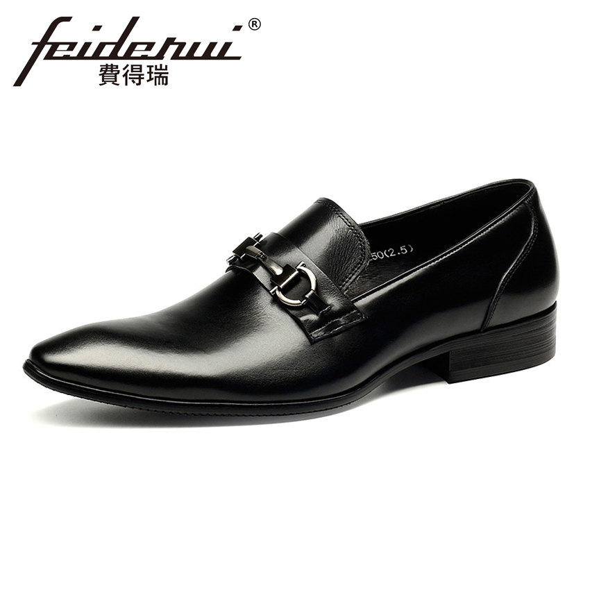 British Style Mens Loafers Pointed Toe Slip on Man Business Flats Genuine Leather Handmade Height Increasing Casual Shoes HMS87British Style Mens Loafers Pointed Toe Slip on Man Business Flats Genuine Leather Handmade Height Increasing Casual Shoes HMS87