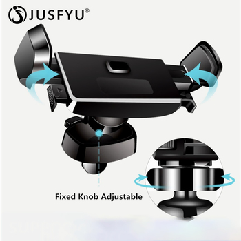 Car Phone Holder for iPhone X 8 7 6s Adjustable Automatic Clamping Air Vent Mount Car Phone Holder 360 Degree Rotation GPS Stand image