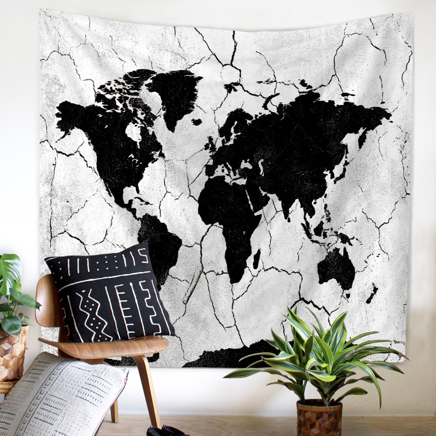 Water flower earth world map tapestry wall hanging rectangular wall water flower earth world map tapestry wall hanging rectangular wall decor cloth tapestries beach blanket home decorative in tapestry from home garden on gumiabroncs Images