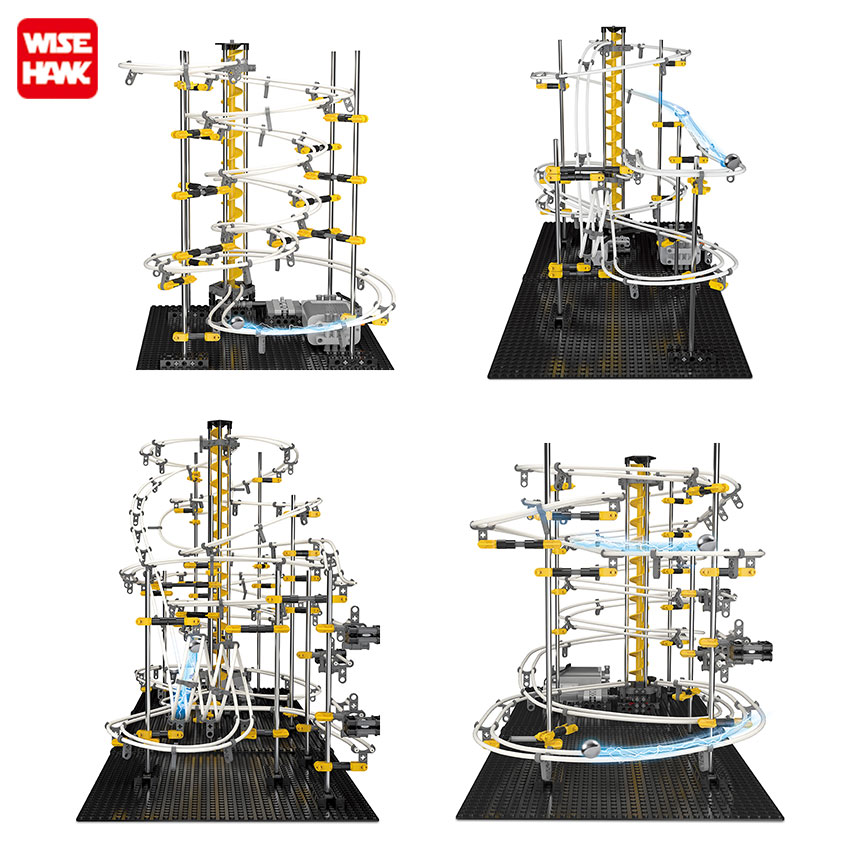 Model Building Kits DIY Educational Toys Spacerail Level 1 2 3 4 Steel Marble Roller Coaster Spacewarp For Adult Kids  Gift