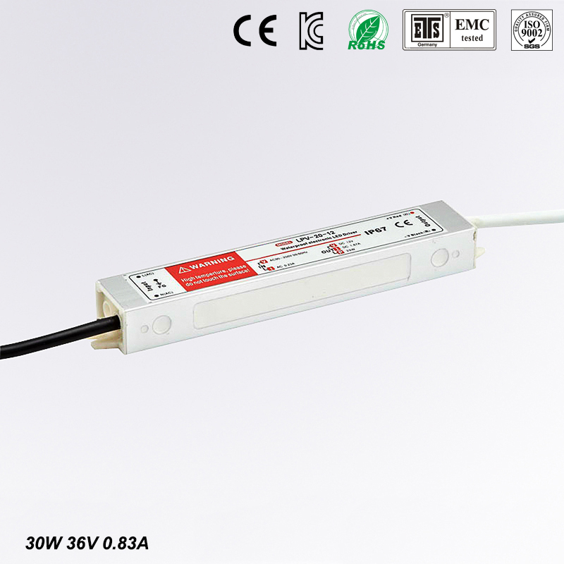 30W AC to DC 36V Waterproof IP67 Electronic Driver outdoor use power supply led strip transformer adapter for underwater light hot 12v 50a 600w 100 264v electronic transformer high quality safy led current driver for led strip 3528 5050 power supply