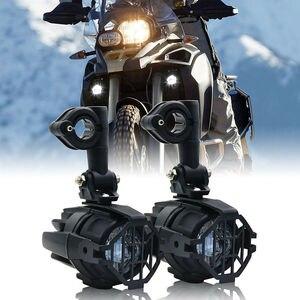 Image 4 - 2 sztuk 40W światło pomocnicze LED lampa 6000K Super jasne mgła światło drogowe zestawy LED żarówki DRL do motocykli BMW K1600 R1200G
