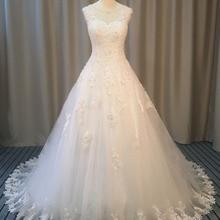 Loverxu Vestido De Noiva Wedding Dresses 2019 Court Train