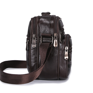 Image 3 - HUANILAI Men Bags Messenger Bags  Fashion Business Shoulder Bags For Men Genuine Leather Bags High Capacity Handbags TY006