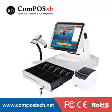 лучшая цена Nice white POS system 15 inch Touch Screen Billing Machine/All in One POS/ Restaurant Cash Register with Free Shipping