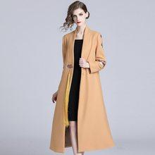 84d5f5ff8 Quente casacos de Inverno longo casaco de 2018 outono de Alta Qualidade  Elegante do vintage Tendência roupas Femininas sexy lind.