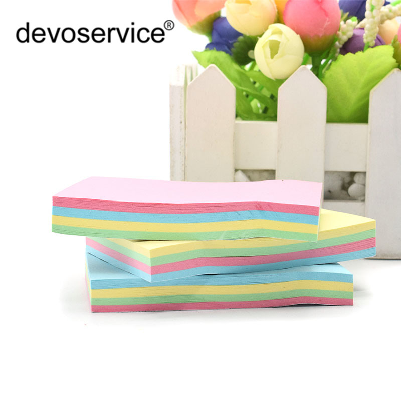 1Pc High-Quality Stacked Color Sticky Notes Creative Message Notes N-times Paste Memo Pads Office Stationery School Supplies 200 sheets 2 boxes 2 sets vintage kraft paper cards notes filofax memo pads office supplies school office stationery papelaria