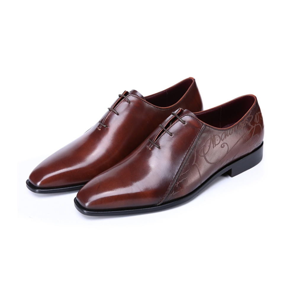 TERSE_5 MOQ men handmade Italian cow leather oxfords men goodyear welted in 3 colors engraving service factory to customer