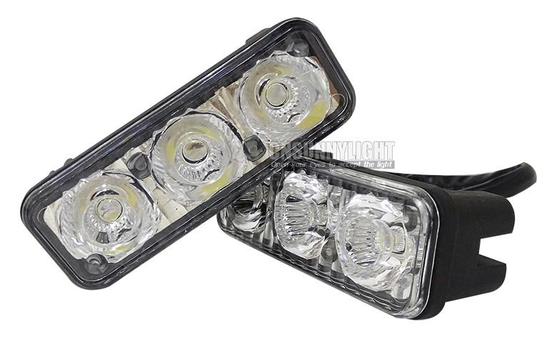CNSUNNYLIGHT Waterproof Car High Power Aluminum LED Daytime Running Lights with Lens DC12v Xenon White 1set DRL (9)