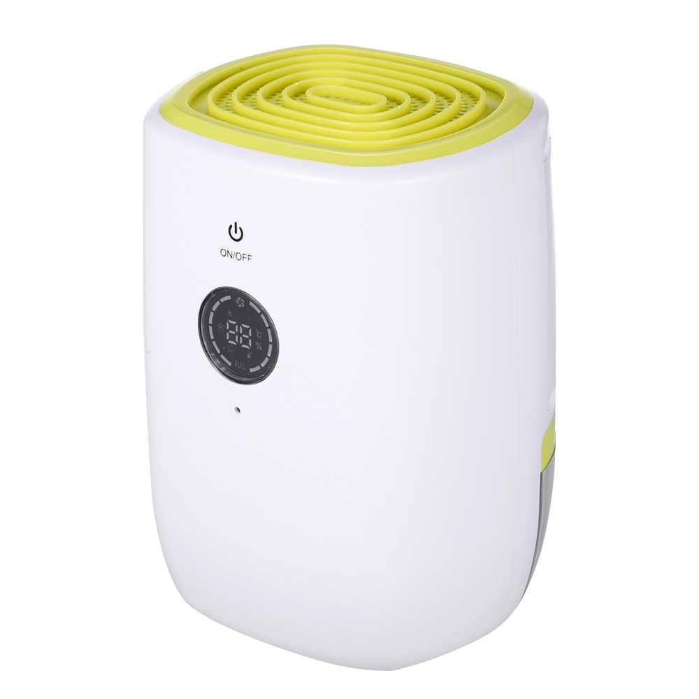 800ML Home Use Electric Dehumidifier with LCD Display Ultra Quiet Desiccant Moisture Absorbing Air Purifier Humidity
