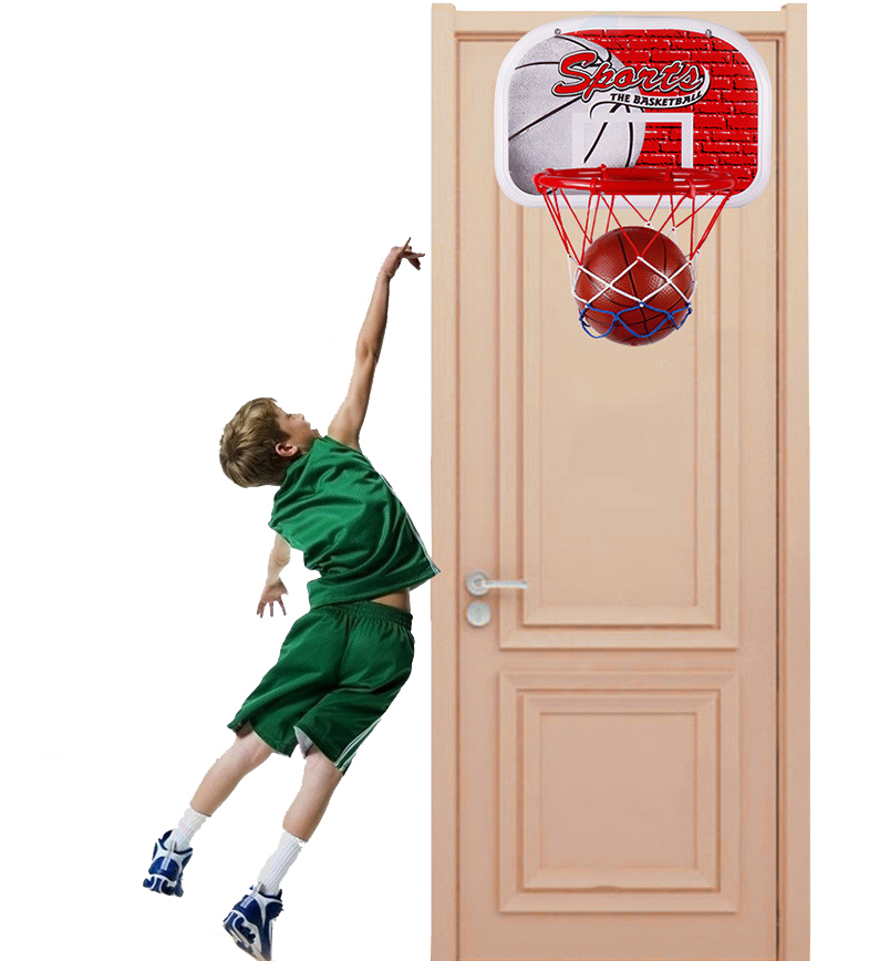 Indoor & Outdoor Hanging Wall-mounted Basketball Hoop Basketball backboard with frame For Children Kids