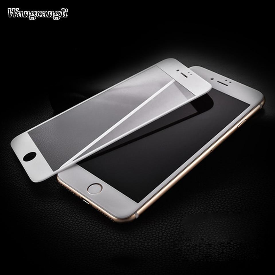 wangcangli Upscale Full täckning 3d Skyddsglas för iPhone 6 6s plus - Reservdelar och tillbehör för mobiltelefoner - Foto 1