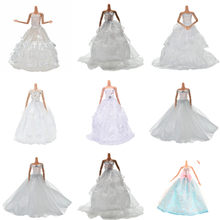 Multi Layers White Handmade Wedding Princess Dress Doll Floral Doll Dress Clothes Clothing Dolls Accessories(China)