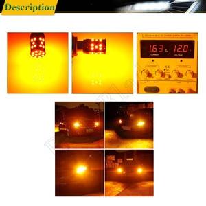 Image 5 - 2 sztuk 1156PY PY21W samochodu LED bursztynowy żółty pomarańczowy Canbus nie OBC błąd Hyper Flash włączony kierunkowskaz BAU15S 7507 12V 24V żarówka