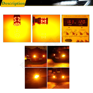 Image 5 - 2Pcs 1156PY PY21W Car LED Amber Yellow Orange Canbus No OBC Error Hyper Flash Turn Signal Light BAU15S 7507 12V 24V Auto Bulb