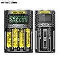 100% оригинал Nitecore UMS4 UMS2 UM4 UM2 USB QC батарея 3A быстрое зарядное устройство интеллектуальная схема глобальная страховка литий-ионный AA AAA