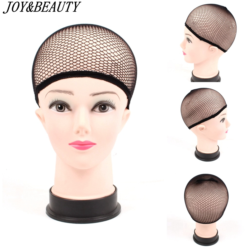 JOY&BEAUTY Hairnets Mesh Weaving Black Wig Hair Net Making Caps Weaving Wig Cap Hairnets Opend At One Ends Black 1Pcs