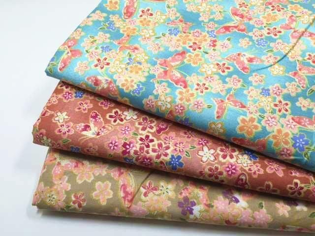 ZY DIY Joli Paon Vert Rouge Papillon   Floraison Fleurs 100% coton sergé  travail manuel home decor quilting patchwork BRICOLAGE chic 84d9fdf38d2