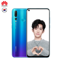 Huawei Nova 4 Global Version OTA Update 8GB 128GB 48MP Triple Camera Mobile Phone Android 9.0 6.4 inch Screen 3750mAh Smartphone