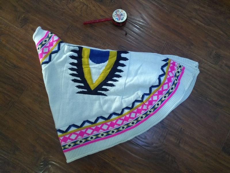 Осень зима модный вязаный хлопковый женский свитер вязаный брендовый кардиган вязаная шаль пончо Дамская накидка с принтом глаз