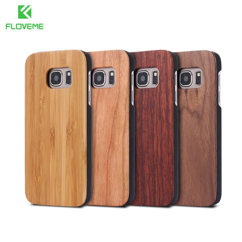separation shoes a8dcc 15a05 US $4.74 5% OFF Aliexpress.com : Buy FLOVEME For Samsung Galaxy S8 S9 Plus  Real Wooden Case For Samsung S8 S9 S7 S6 Edge Cases Cover Wood Bamboo Phone  ...
