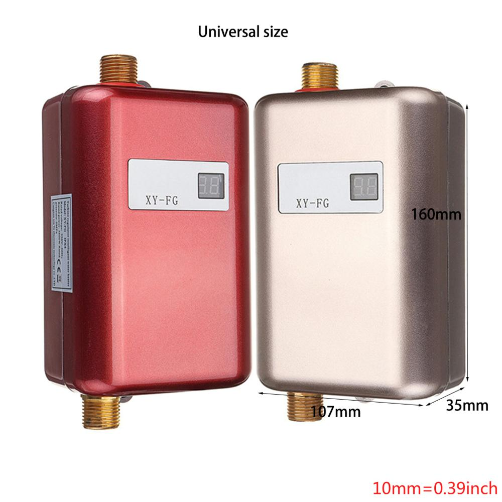 Mini Tankless LCD Digital Water Heater Instant Hot Faucet Kitchen Heating Thermostat US Plug Intelligent Energy-save Waterproof